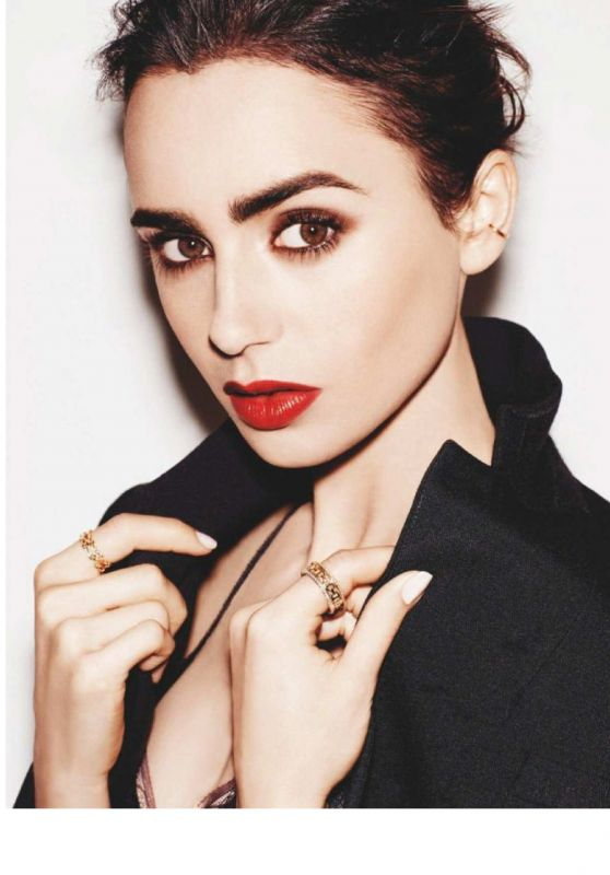 Lily Collins - InStyle Magazine Spain, April 2018