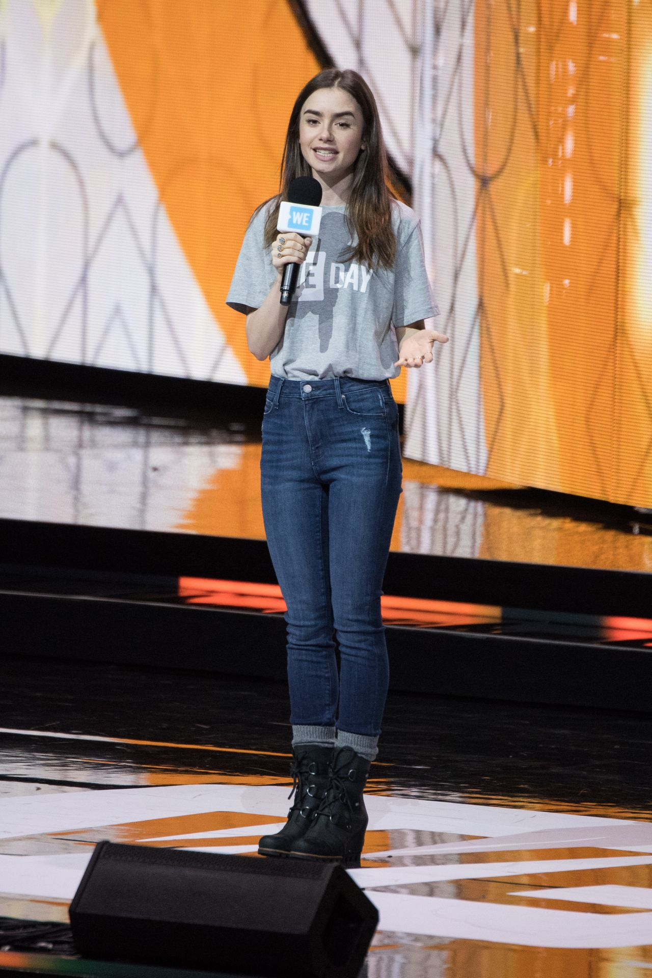 Lily Collins We Day In London 03 07 2018