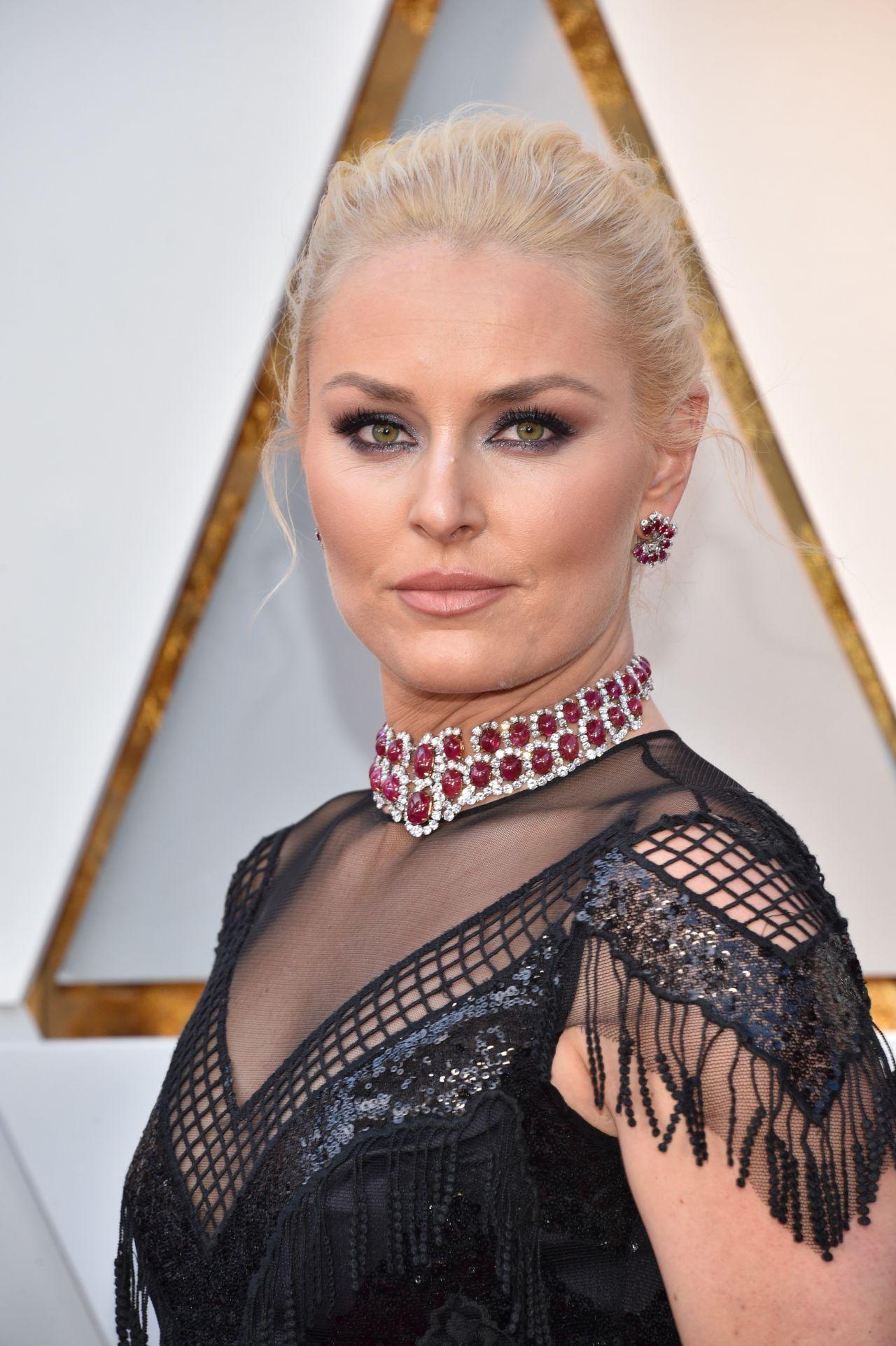 Lindsey Vonn Oscars 2018 Red Carpet