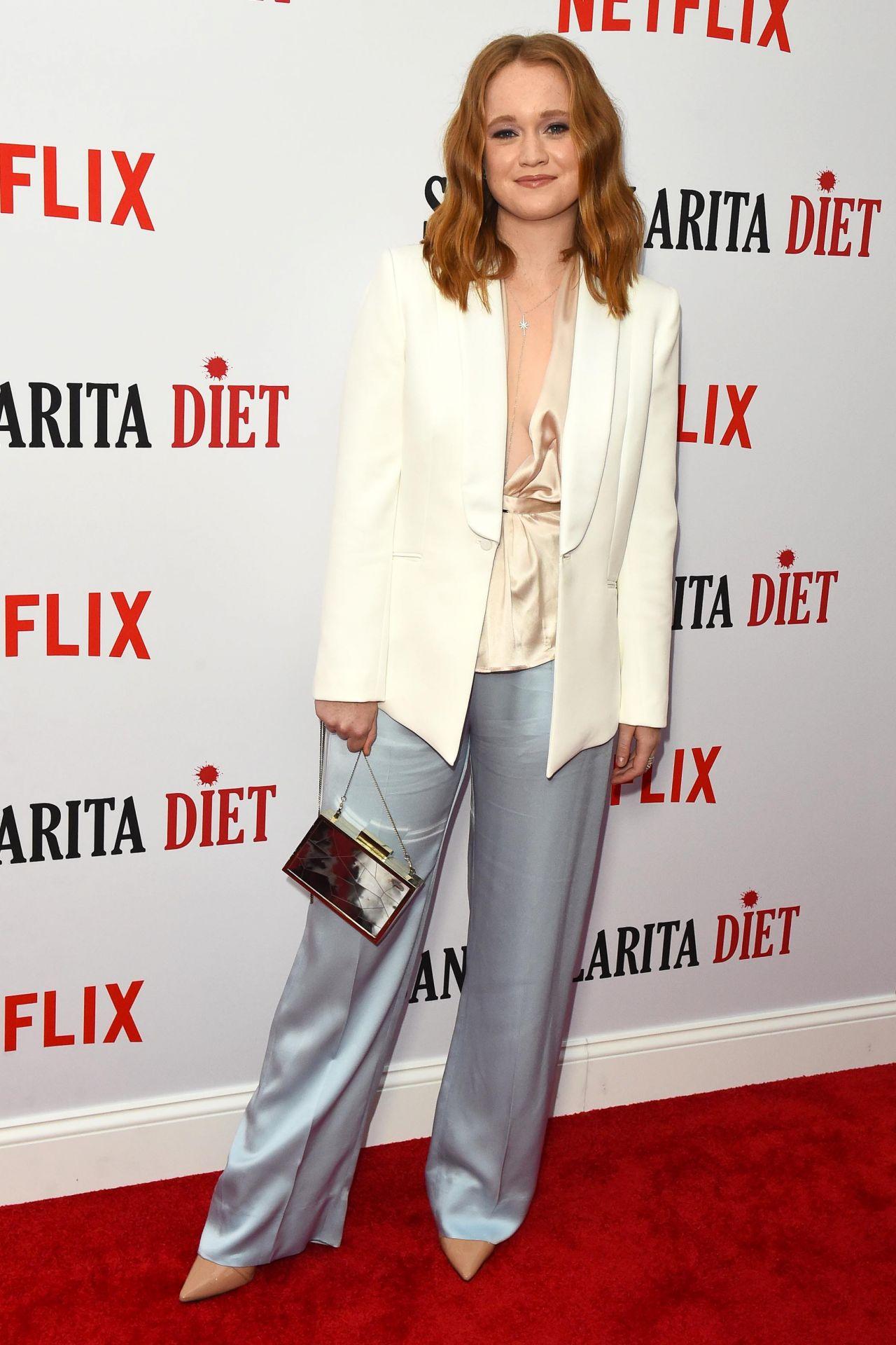 Liv Hewson Santa Clarita Diet Season 2 Premiere In La