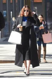 Lucy Hale on Starbucks Ice Coffee Out in SoHo NYC