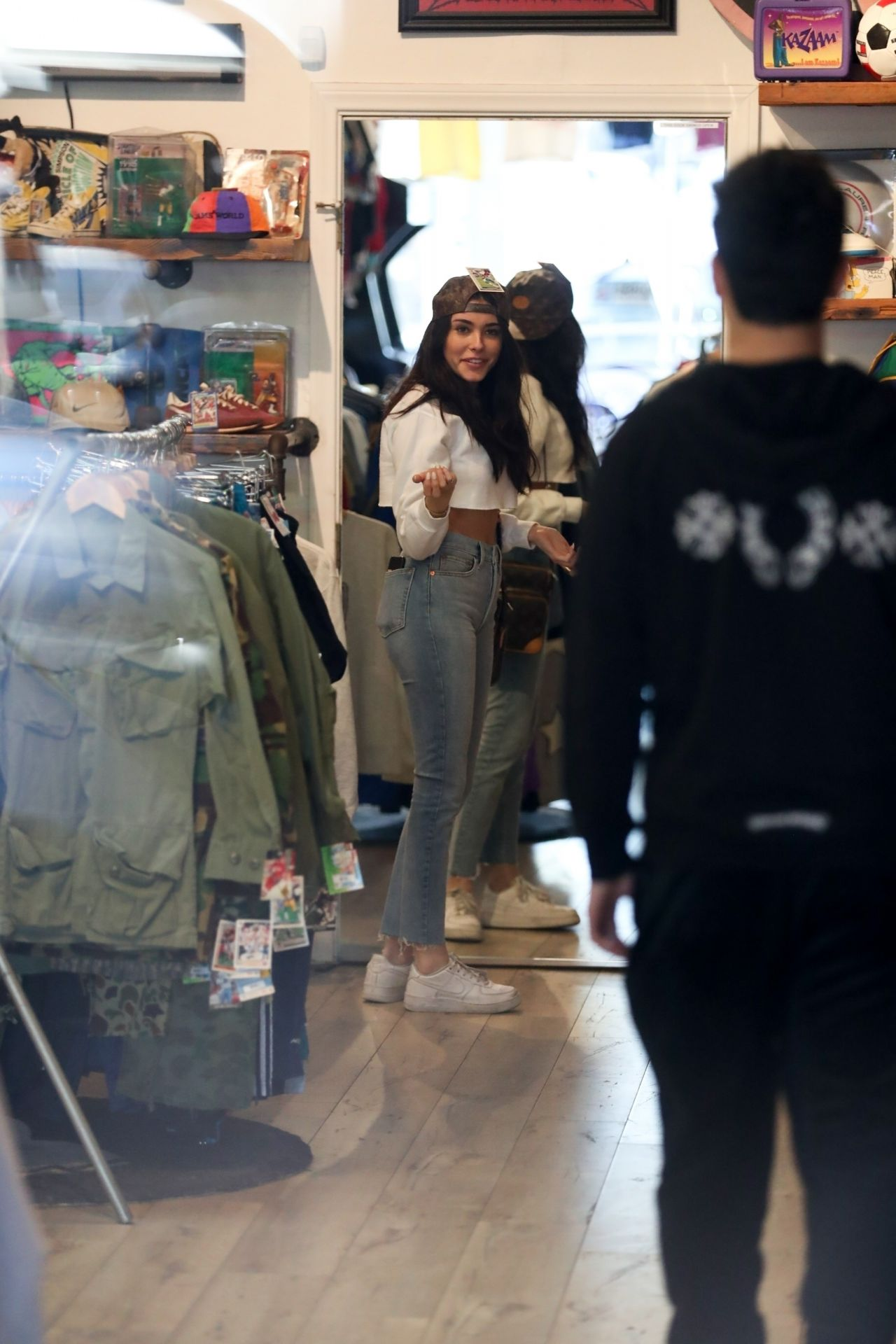 Madison Beer and Boyfriend Zack Bia Shopping at Round Two