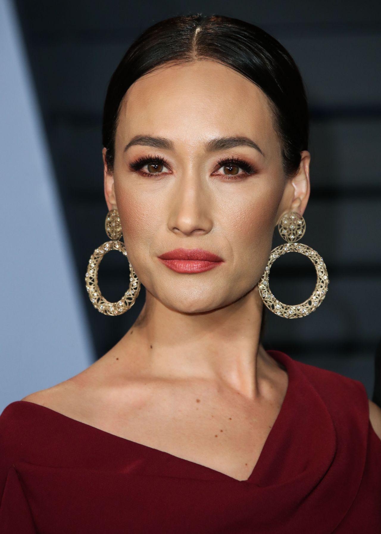 Maggie Q 2018 Vanity Fair Oscar Party In Beverly Hills