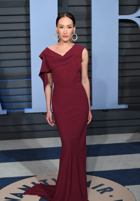 Maggie Q – 2018 Vanity Fair Oscar Party in Beverly Hills