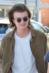 Maika Monroe and Joe Keery at Il Pastaio in Beverly Hills 03/06/2018