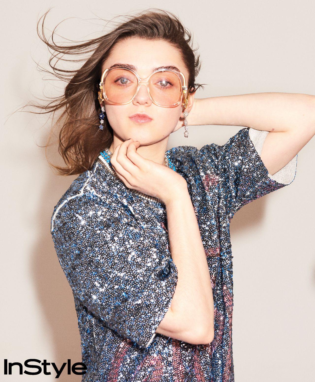 maisie williams photoshoot for instyle magazine april 2018