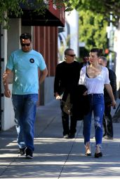 Milla Jovovich at Matsuhisa in Beverly Hills 03/06/2018