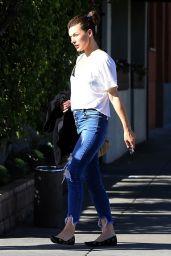 Milla Jovovich at Matsuhisa in Beverly Hills 03/06/2018