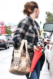 Milla Jovovich Street Style - Los Angeles 03/22/2018