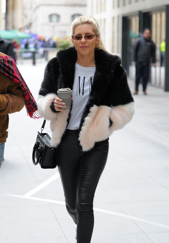 Mollie King at the BBC Broadcasting House in London 03/17/2018