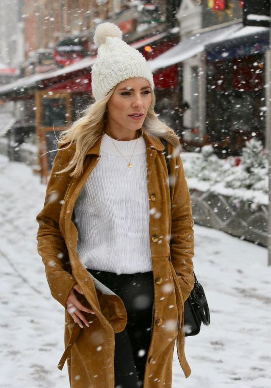 Mollie King in a Snow Blizzard - London 02/28/2018