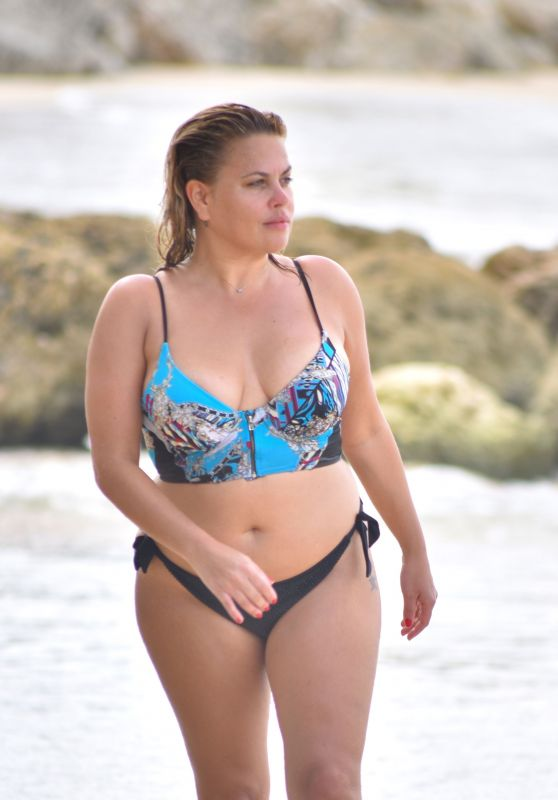 Nadia Essex in Bikini - Barbados 03/16/2018