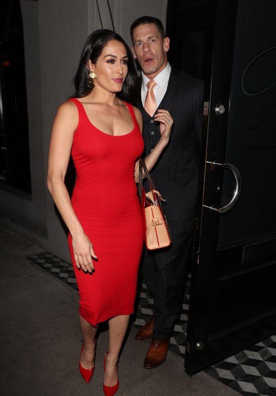 Nikki Bella and John Cena - Dinner Date in West Hollywood 03/24/2018