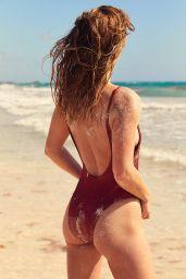 Nina Agdal - Photoshoot for Aerie Swimwear 2018