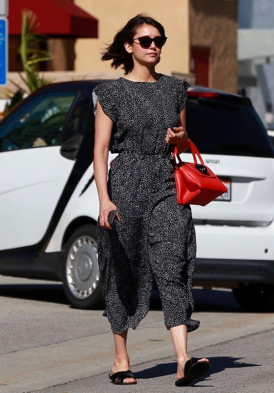 Nina Dobrev Cute Style - Out in LA 03/29/2018