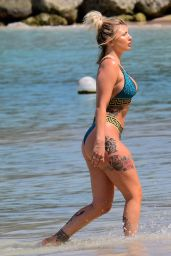 Olivia Buckland and Alex Bowen on Beach in Barbados 03/19/2018