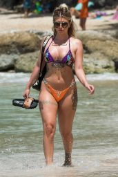 Olivia Buckland in Bikini on the Beach in Barbados