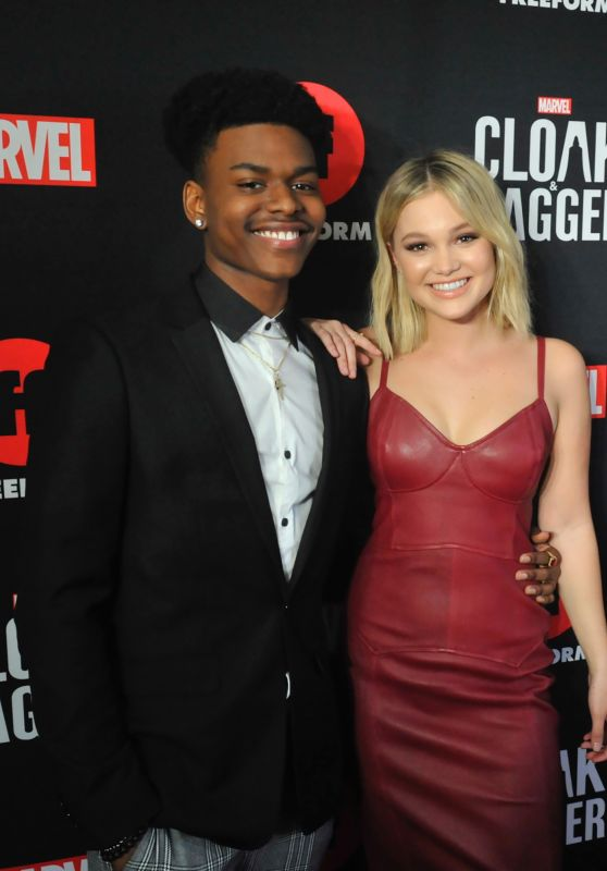 "Olivia Holt and Aubrey Joseph - ""Cloak & Dagger"" Premiere at the 2018 SXSW"