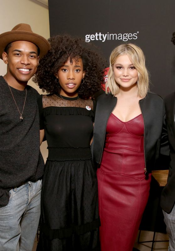 Olivia Holt and Aubrey Joseph - Pizza Hut Lounge at the 2018 SXSW Film Festival in Austin 03/11/2018