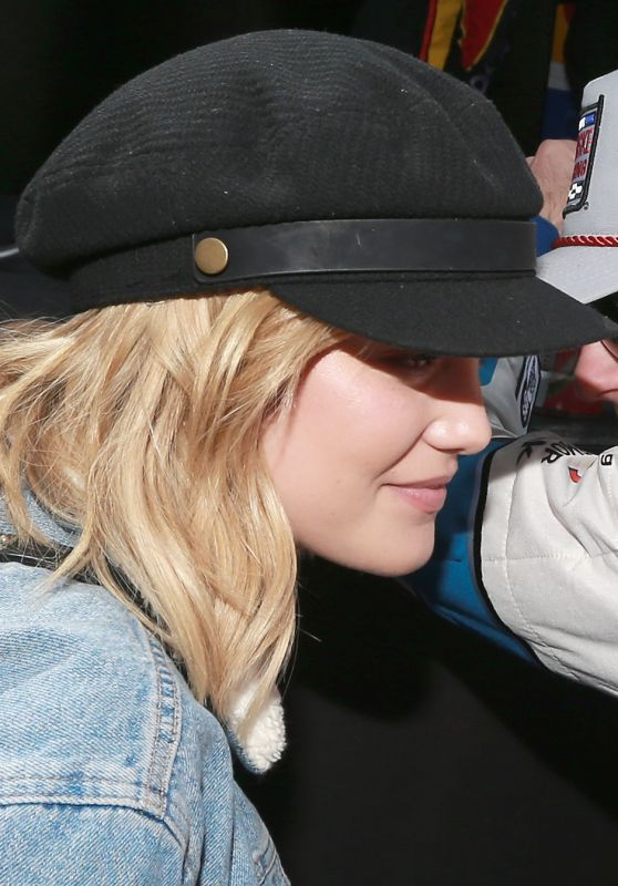 Olivia Holt - Monster Energy NASCAR Cup Series Auto Club 400 in Fontana