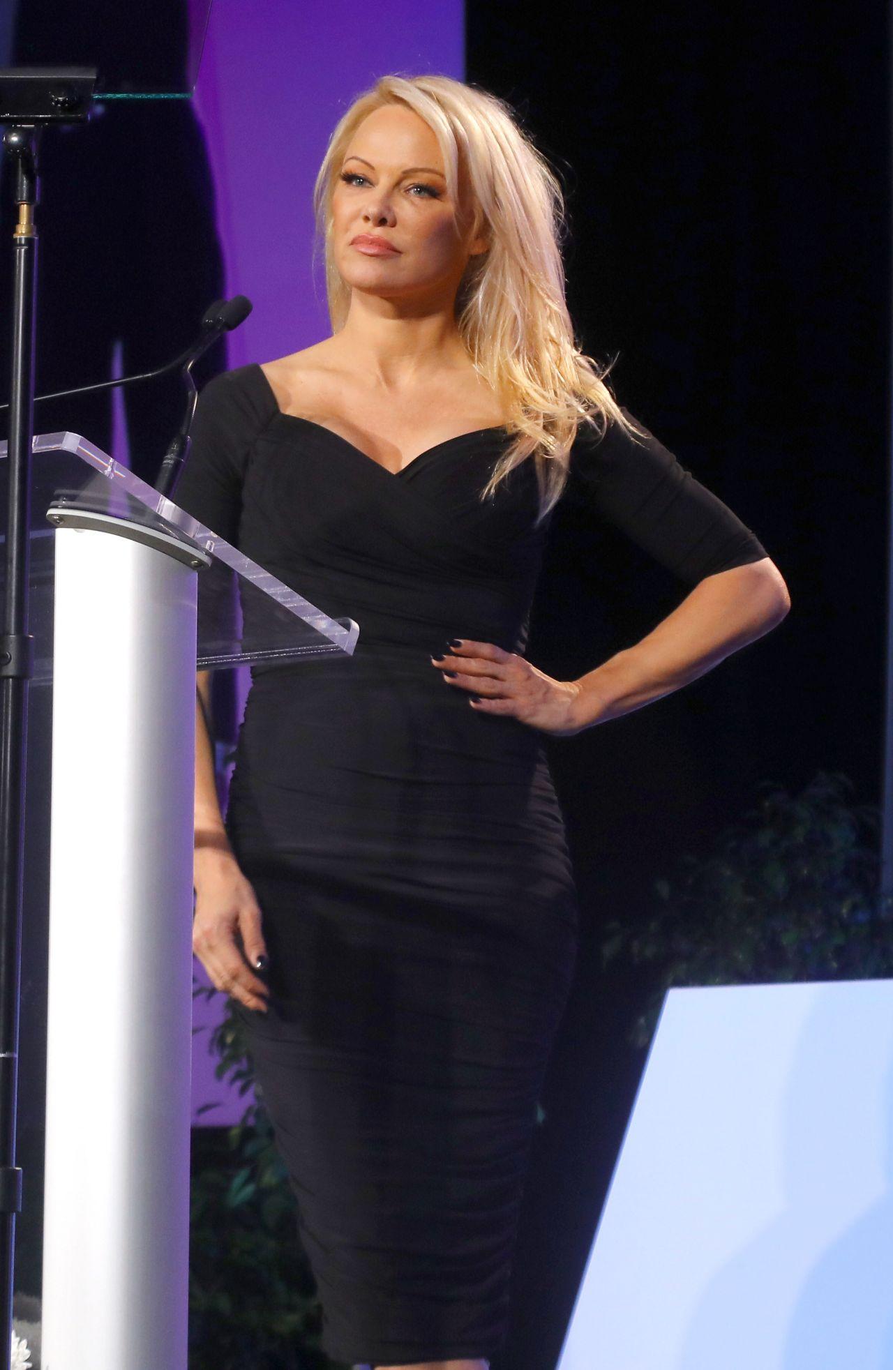 Pamela Anderson Press Conference In Las Vegas 03 12 2018