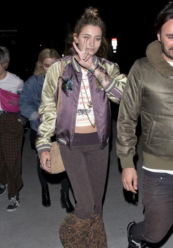 "Paris Jackson - Leaving ""Crossroads"" Restaurant in Los Angeles 03/20/2018"