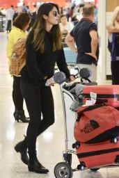 Pia Miller in Travel Outfit - Airport in Australia 03/01/2018