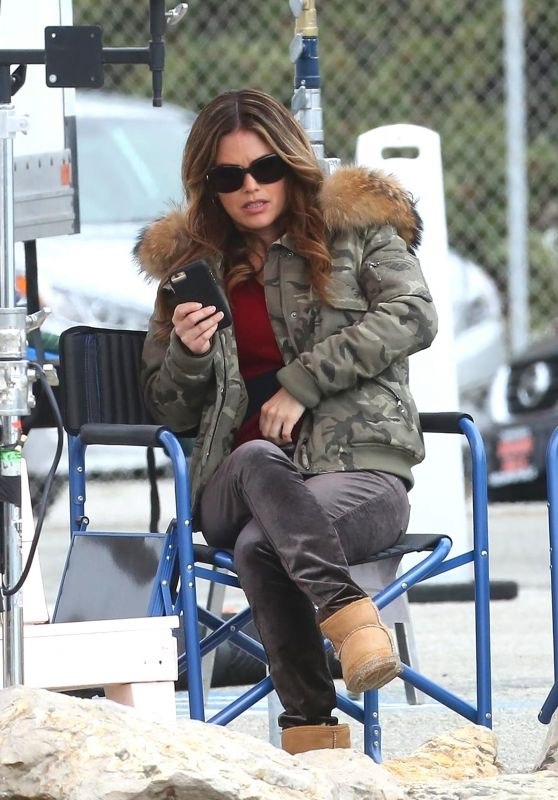 "Rachel Bilson and Eddie Cibrian - ""Take Two"" Filming in Malibu 03/12/2018"