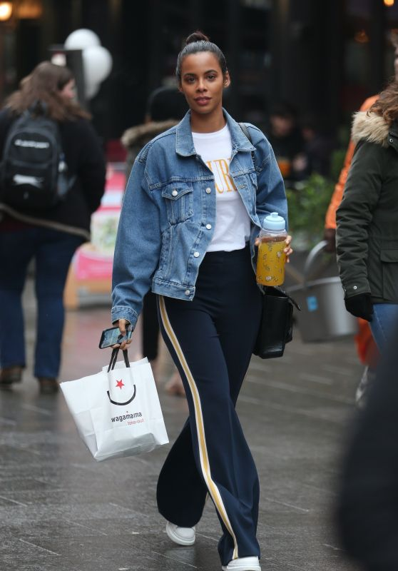 Rochelle Humes at Global Radio Studios in London 03/03/2018