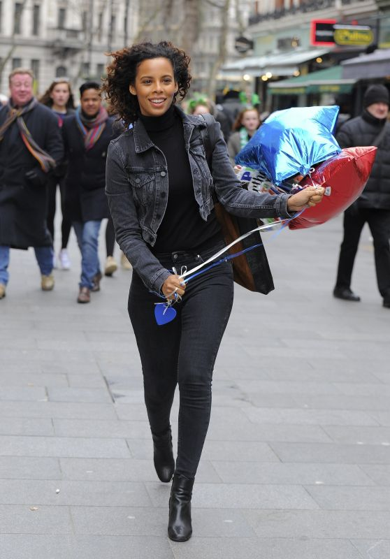 Rochelle Humes in Tights - Out in London 03/18/2018