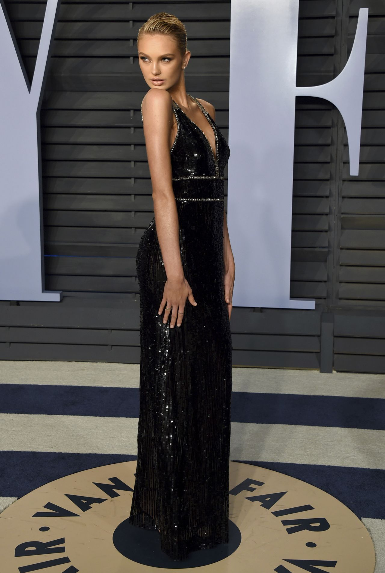 Romee Strijd At Vanity Fair Oscar Party In Beverly Hills