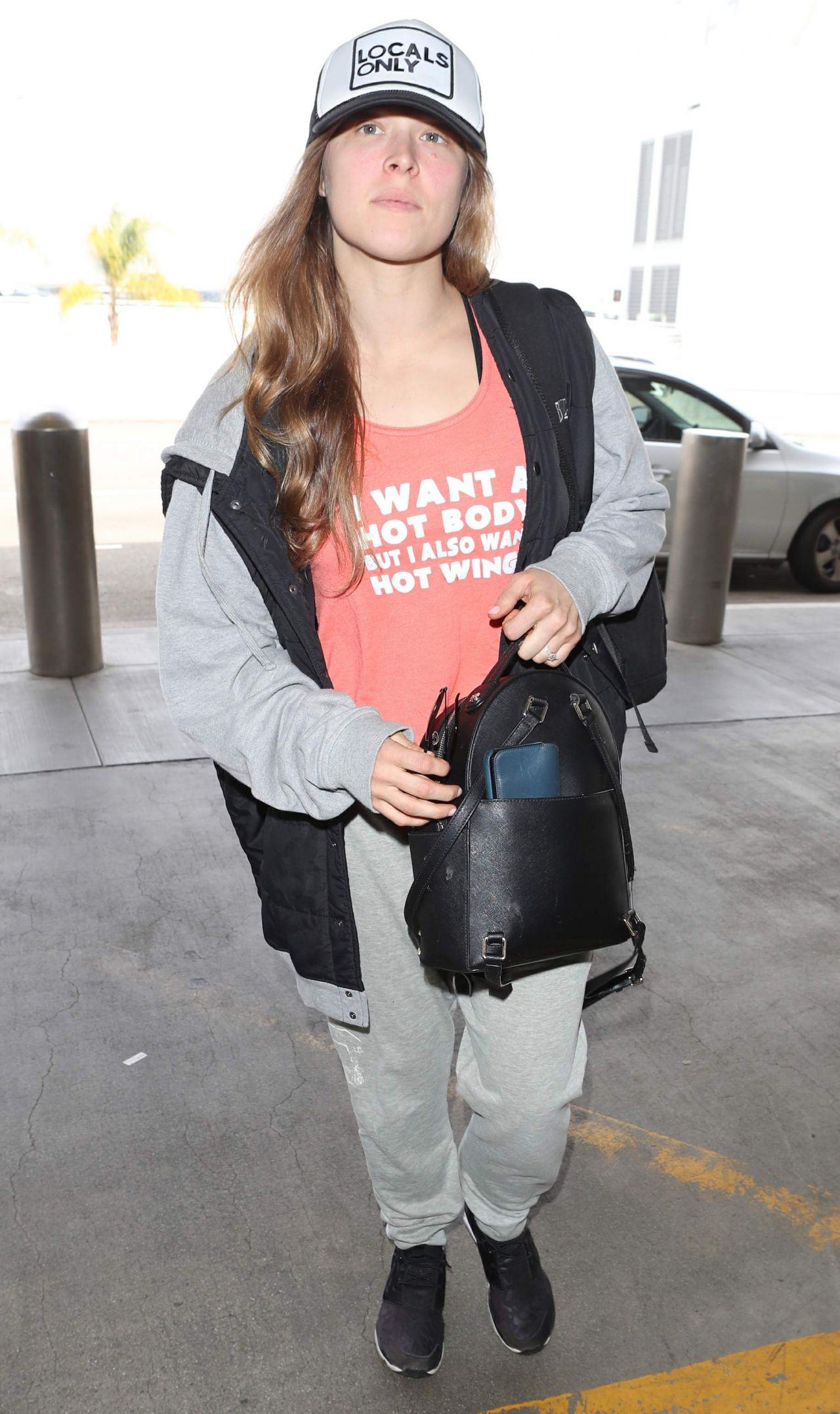 Ronda Rousey Street Style - LAX Airport in Los Angeles 03/12/2018