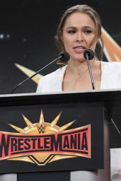 Ronda Rousey - WWE Press Conference in East Rutherford 03/16/2018