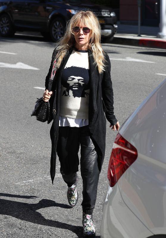 Rosanna Arquette Urban Style - Beverly Hills 03/20/2018