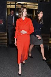 Rose Leslie at Late Night With Seth Meyers in NYC 03/12/2018