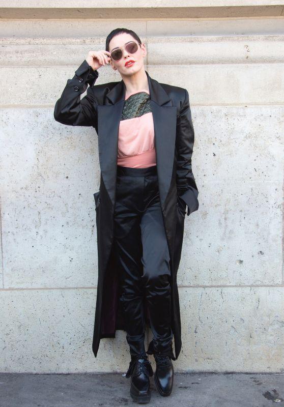 Rose McGowan - Vivienne Westwood Show FW18 in Paris
