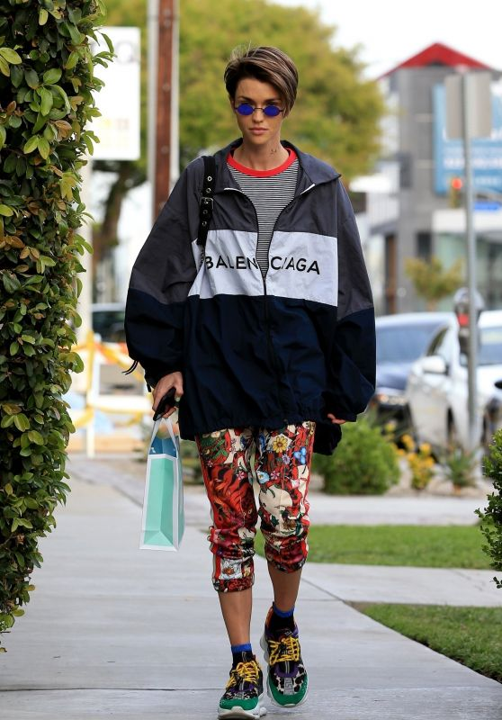 Ruby Rose - Stops by the Kate Somerville Skin Care Clinic in West Hollywood