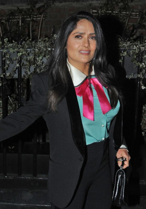 Salma Hayek - Chiltern Firehouse in London 03/20/2018