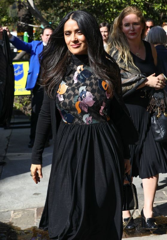 Salma Hayek - Leaving a Pre-Oscars Event in Beverly Hills