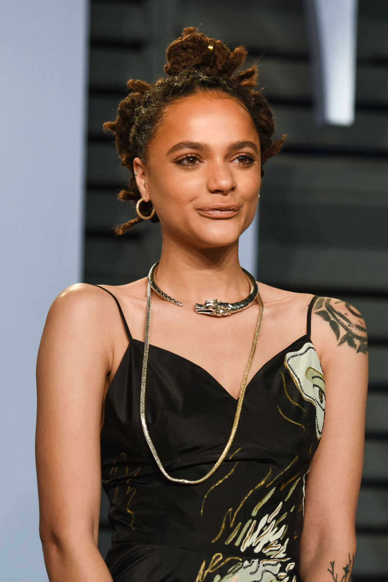 Sasha Lane 2018 Vanity Fair Oscar Party In Beverly Hills