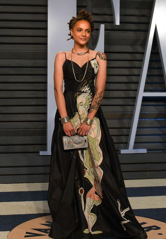 Sasha Lane – 2018 Vanity Fair Oscar Party in Beverly Hills