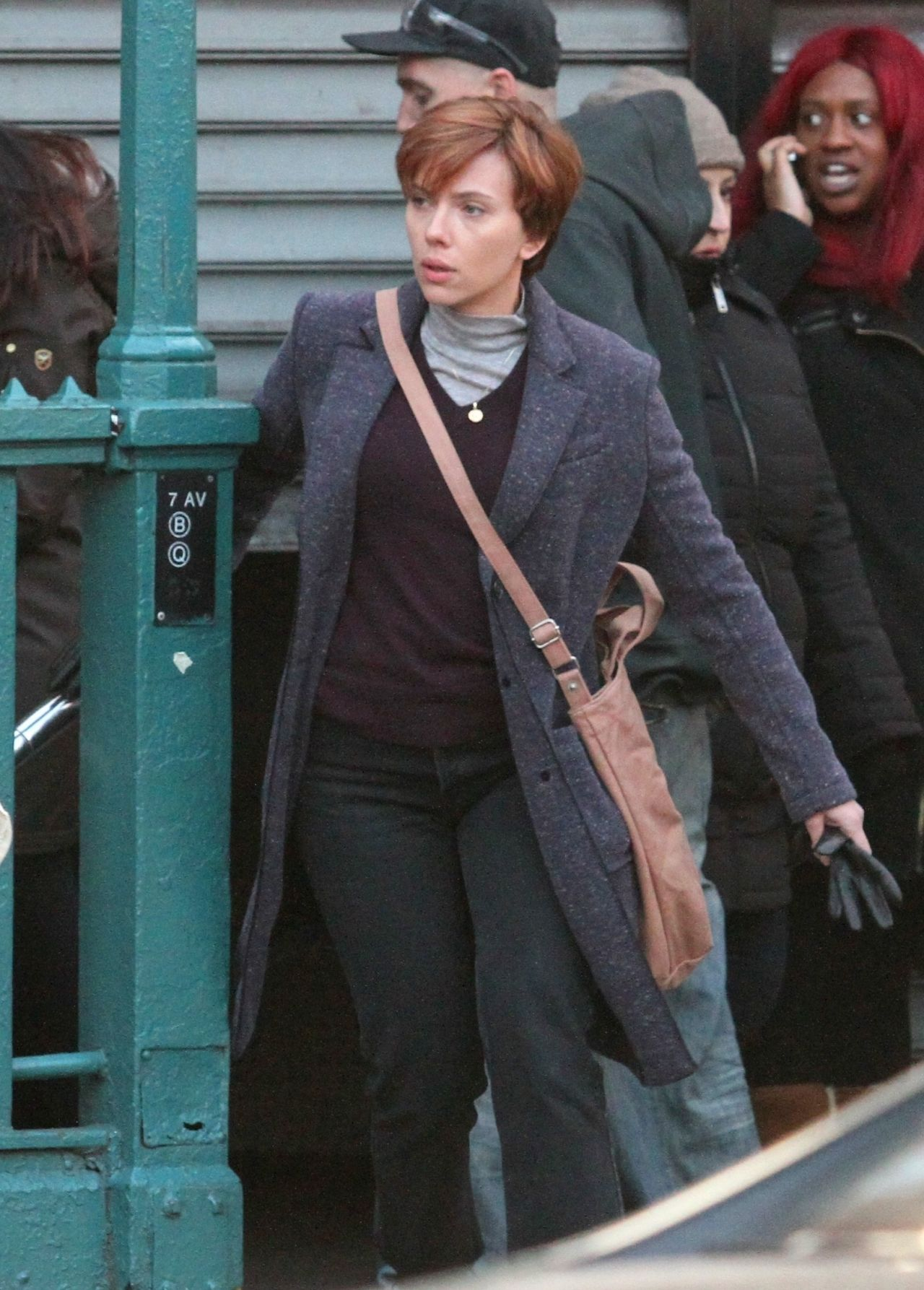 Scarlett Johansson - Filming Noah Baumbach's, Untitled Film Project