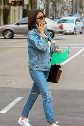 Selena Gomez Denim-On-Denim Look - Beverly Hills 03/17/2018