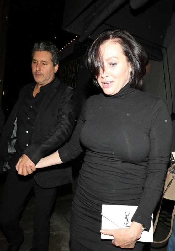 Shannen Doherty - Leaves a Dinner Date at Gracias Madre in West Hollywood