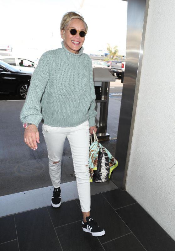 Sharon Stone at LAX Airport 03/08/2018