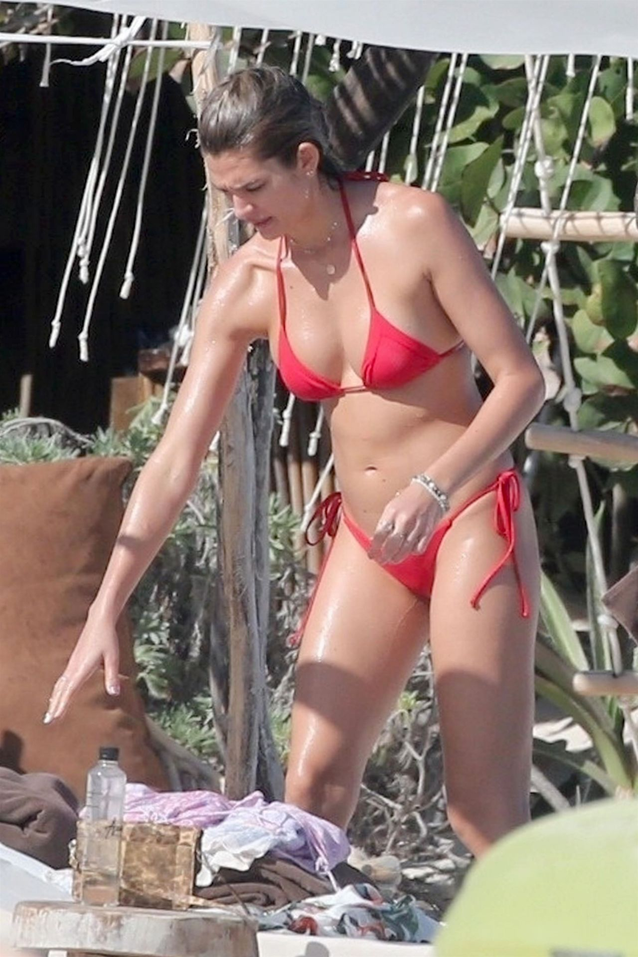 Shayna Taylor in Red Bikini on the beach in Tulum Pic 8 of 35
