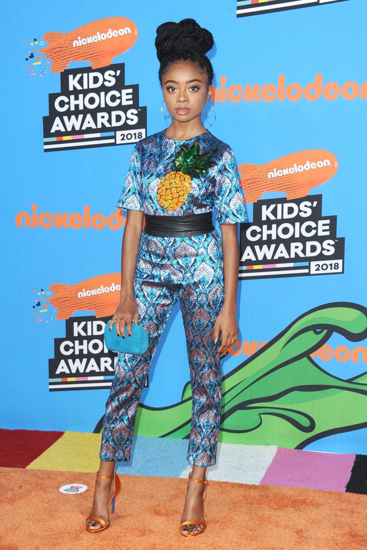 Skai Jackson 2018 Nickelodeon Kids Choice Awards