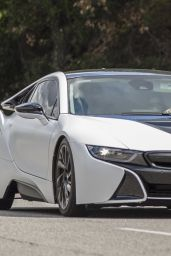 Sofia Richie and Her New Matte - White $150,000 BMW i8 in Calabasas 03/25/2018