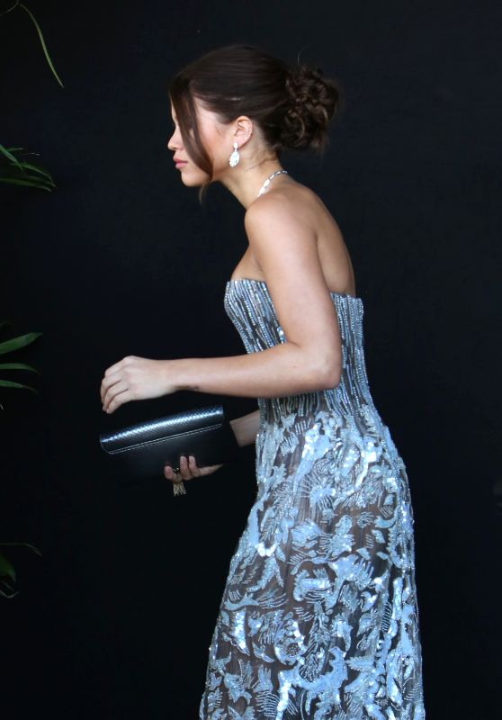Sofia Richie in a Strapless Sequin Gown - Chateau Marmont in Los Angeles 03/04/2018