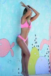 Steph Clair Smith in a Pink Bikini - Photoshoot at Bondi Beach 03/29/2018